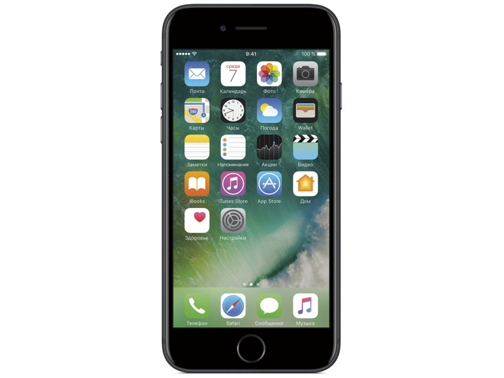 Смартфон Apple iPhone 7 128Gb черный (MN922RU/A) 4.7 (750x1334) iOS 10 12Mpix WiFi BT usb flash накопитель 128gb kingston hyperx hxs3 128gb usb3 1 черный