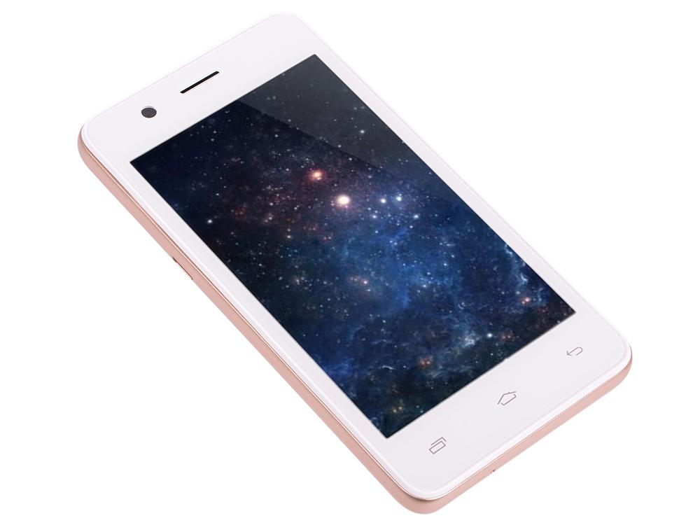 "Смартфон Micromax Q326 бежевый 4"" 4 Гб Wi-Fi GPS 3G"