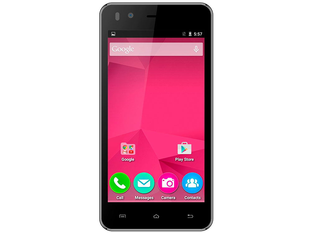 Смартфон Micromax Q424 черный 4.5 8 Гб Wi-Fi GPS 3G смартфон micromax bolt q346 lite 3g 8gb blue
