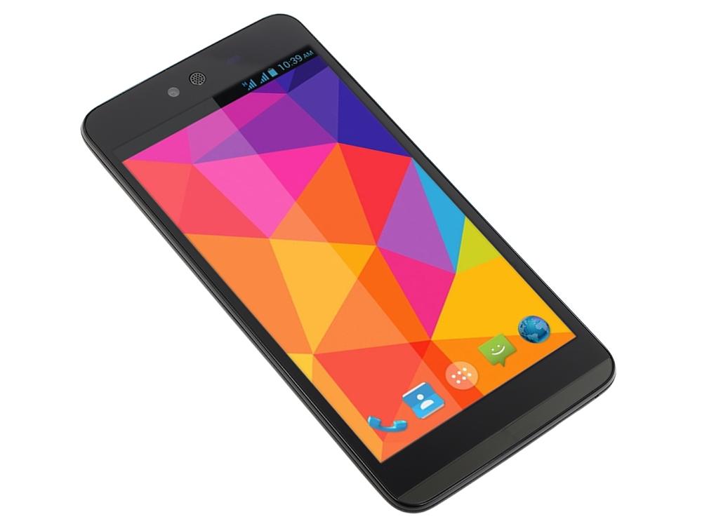 Смартфон Micromax Q338 черный 5 8 Гб Wi-Fi GPS 3G смартфон micromax q397 champagne 5 5 8 гб wi fi gps 3g