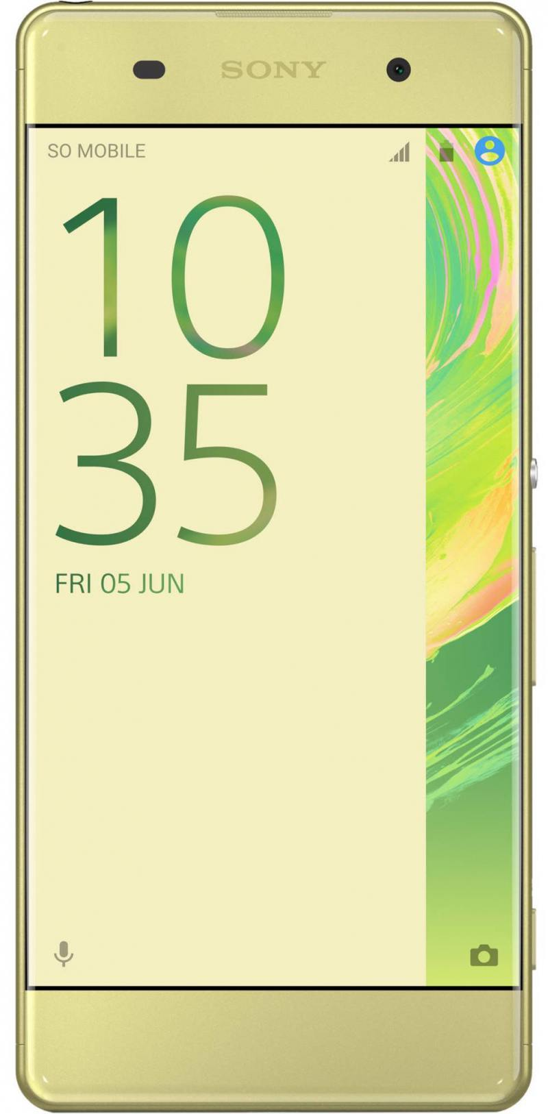 Смартфон SONY Xperia XA (F3111) Lime Gold MediaTek MT6755/2 Гб/16 Гб/5 (1280x720)/3G/4G/BT/Android 6.0 смартфон sony xperia xa ultra lime gold android 6 0 marshmallow mt6755 2000mhz 6 0 1920x1080 3072mb 16gb 4g lte [f3211lime gold]