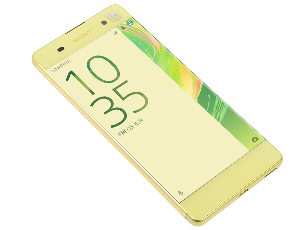 Смартфон SONY Xperia XA (F3111) Lime Gold MediaTek MT6755/2 Гб/16 Гб/5 (1280x720)/3G/4G/BT/Android 6.0 sony xperia x rose gold