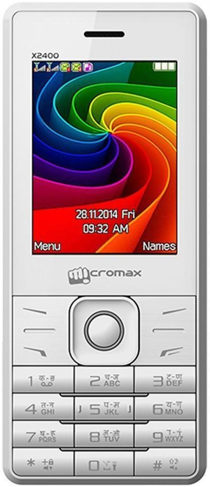 Мобильный телефон Micromax X2400 белый 2.4