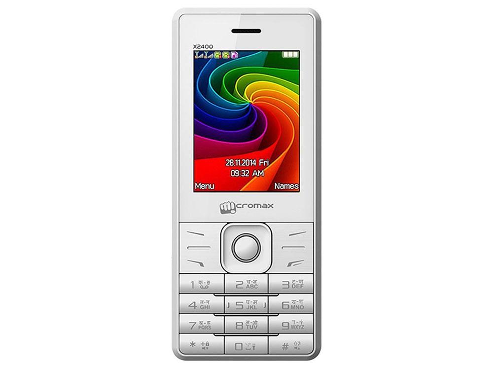 все цены на Мобильный телефон Micromax X2400 белый 2.4