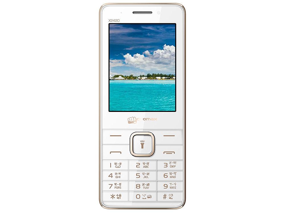 Мобильный телефон Micromax X2420 белый шампань 2.4