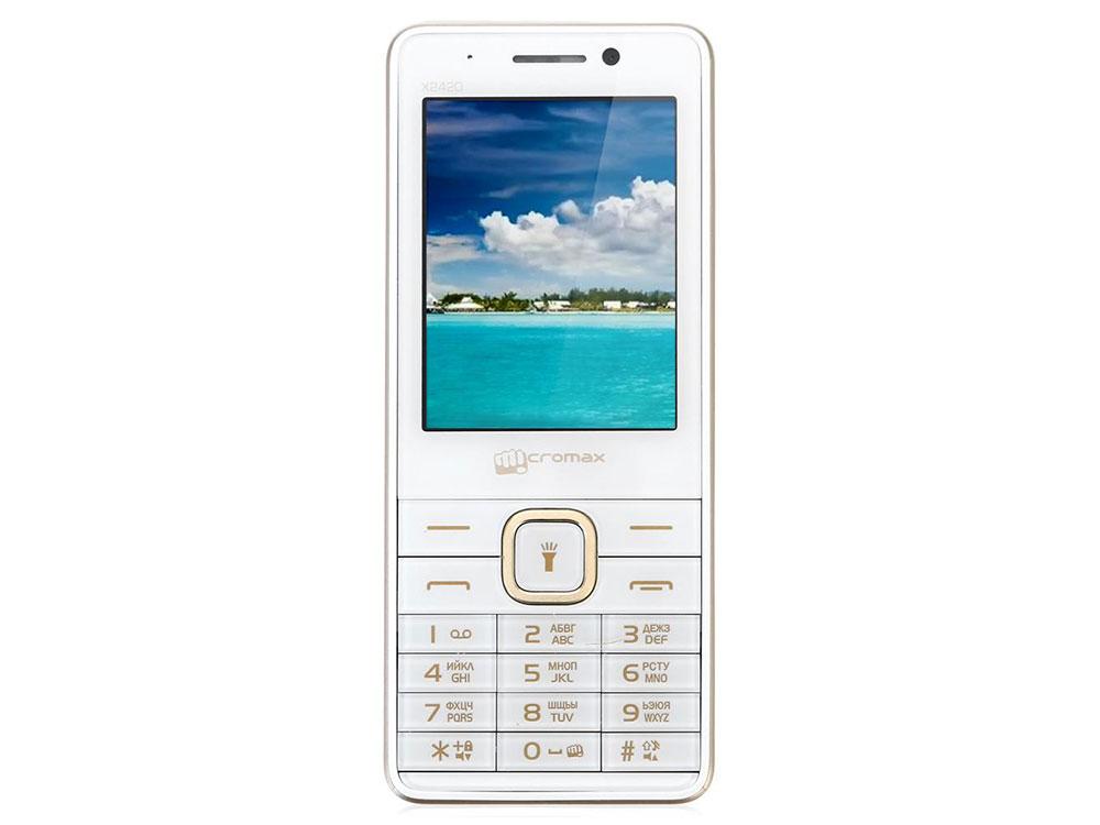 Мобильный телефон Micromax X2420 белый шампань 2.4 смартфон micromax q326 3g 4gb champagne