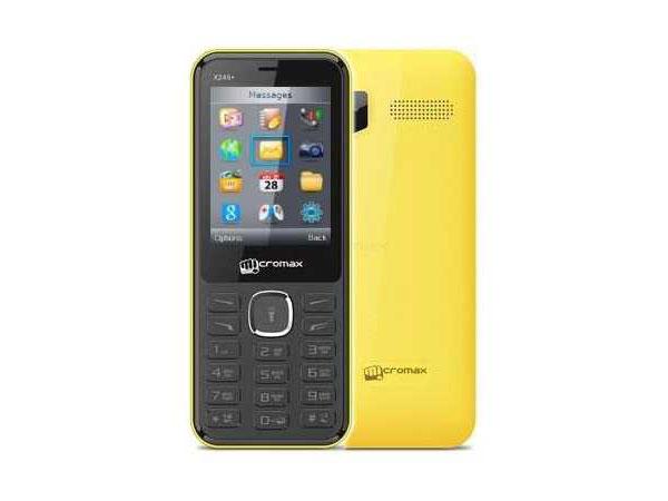 Мобильный телефон Micromax X249+ жёлтый 2.4 32 Мб мобильный телефон micromax bolt q379 черный