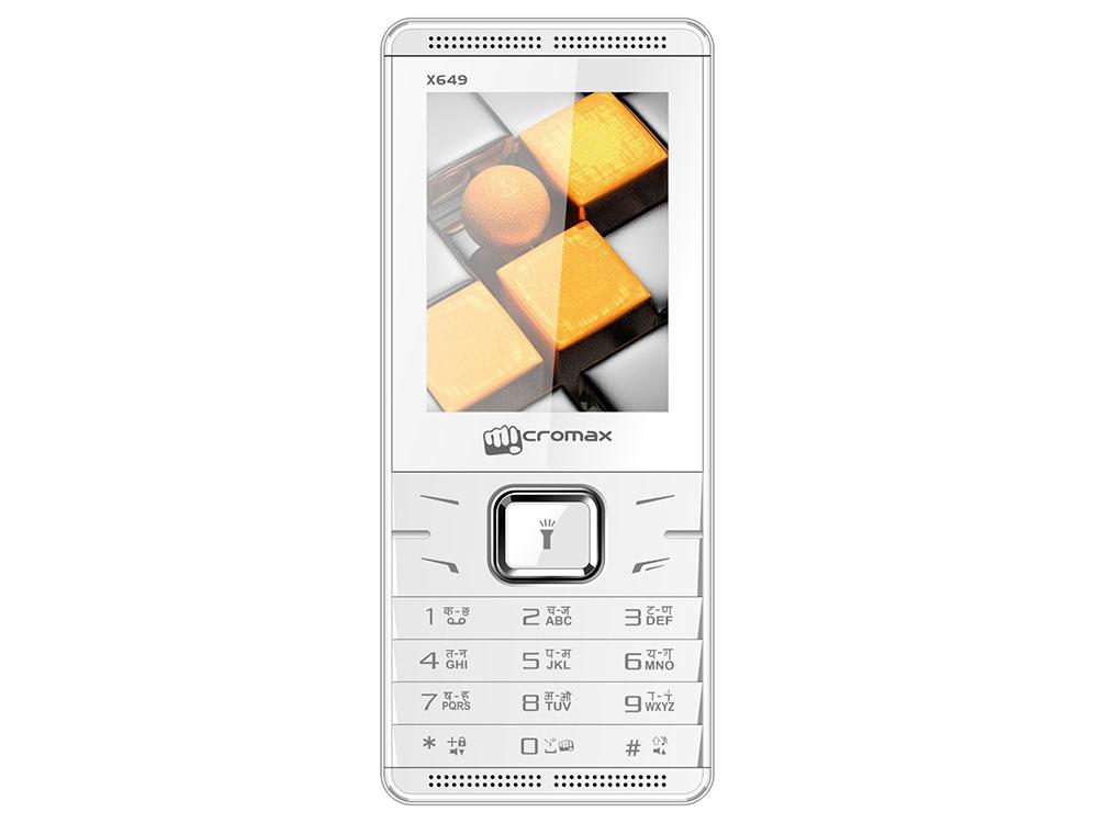 Мобильный телефон Micromax X649 белый 2.4 32 Мб мобильный телефон micromax bolt q379 черный