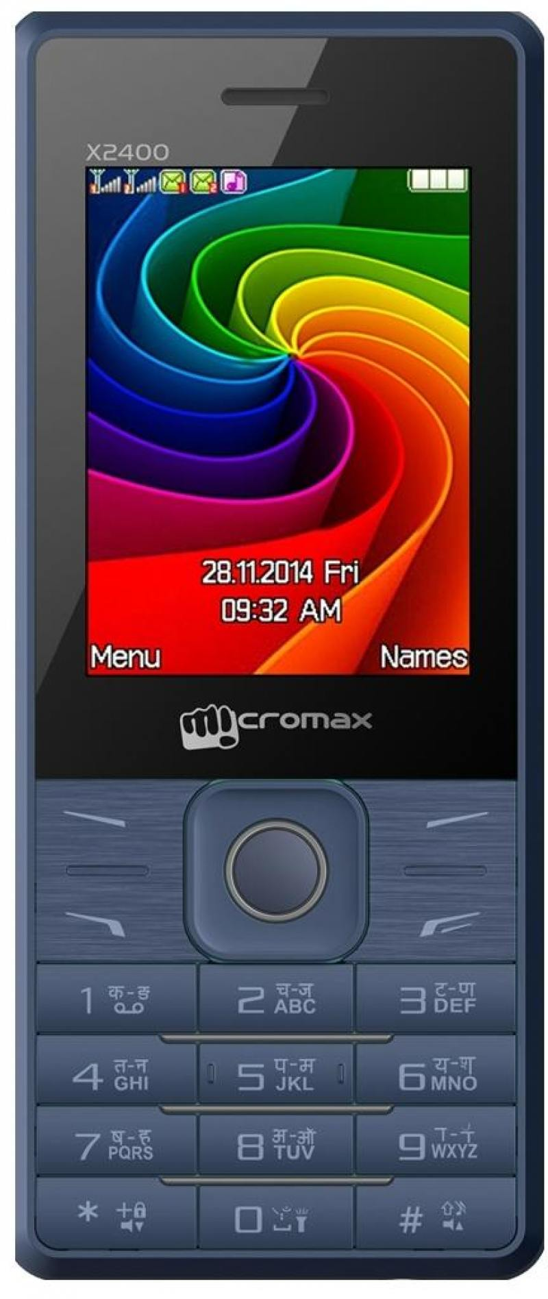 Мобильный телефон Micromax X2400 синий 2.4