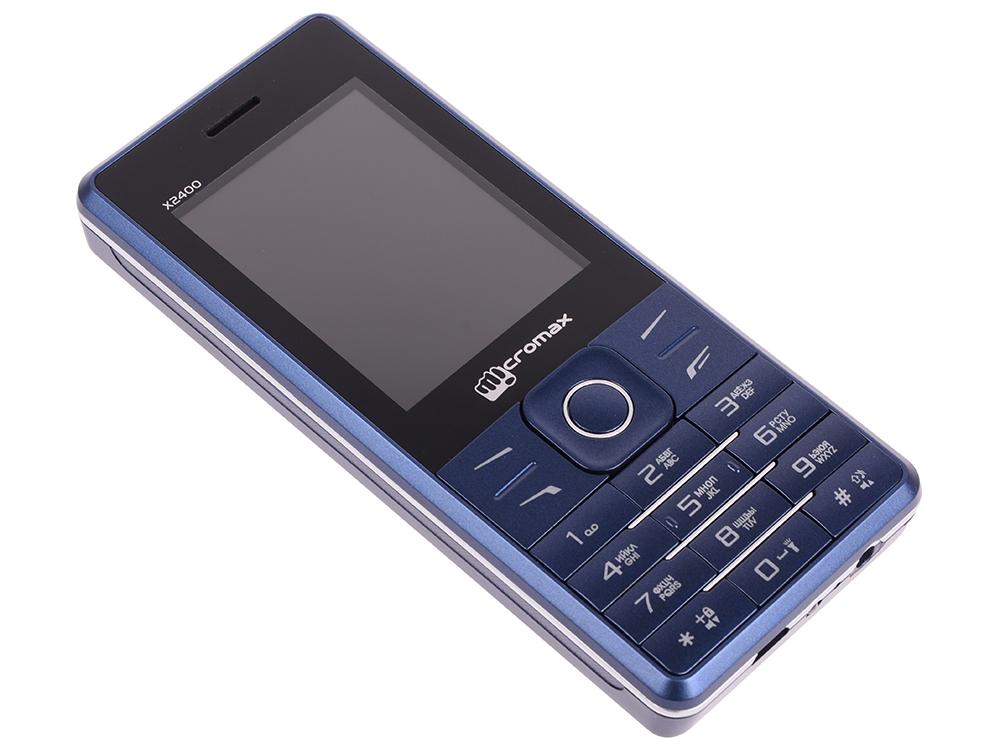 Мобильный телефон Micromax X2400 синий 2.4 мобильный телефон micromax x406