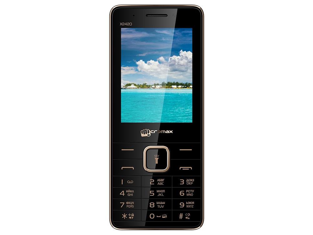 Мобильный телефон Micromax X2420 черный 2.4 мобильный телефон micromax x705 черный x705 black