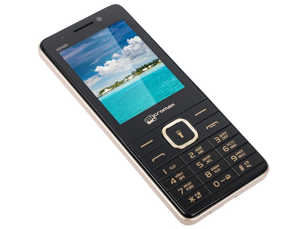 Мобильный телефон Micromax X2420 черный 2.4 мобильный телефон micromax bolt q379 черный