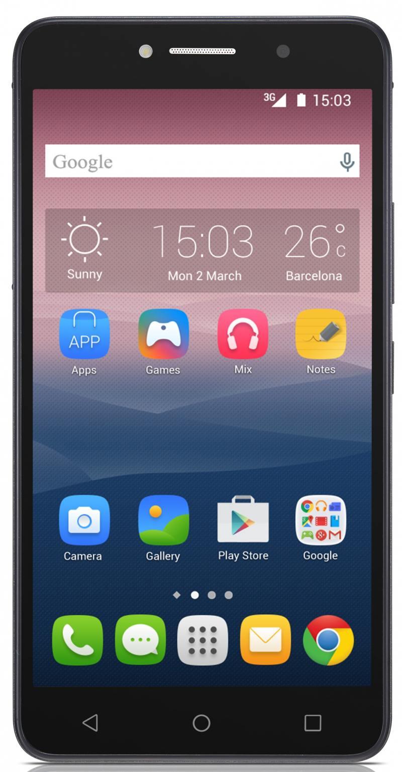 Смартфон Alcatel PIXI4 черный 6