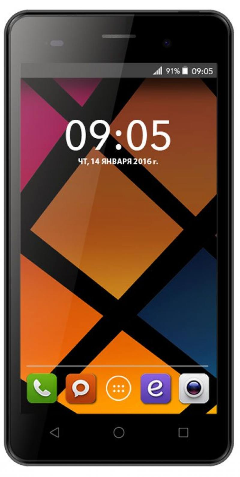 Смартфон BQS-5020 Strike (Black) MediaTek MT6580 (1.3)/1GB/8GB/5.0 1280х720 IPS/2Sim/13Mp, 5Mp Cam/Android 6.0 смартфон bq mobile strike black brushed bqs 5020