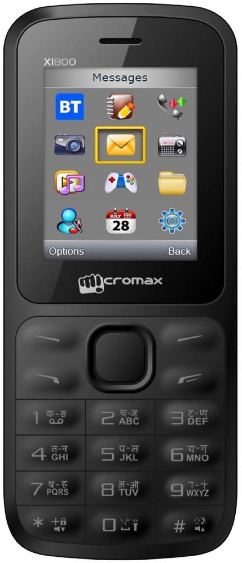 Мобильный телефон Micromax Joy X1800 черный 1.77