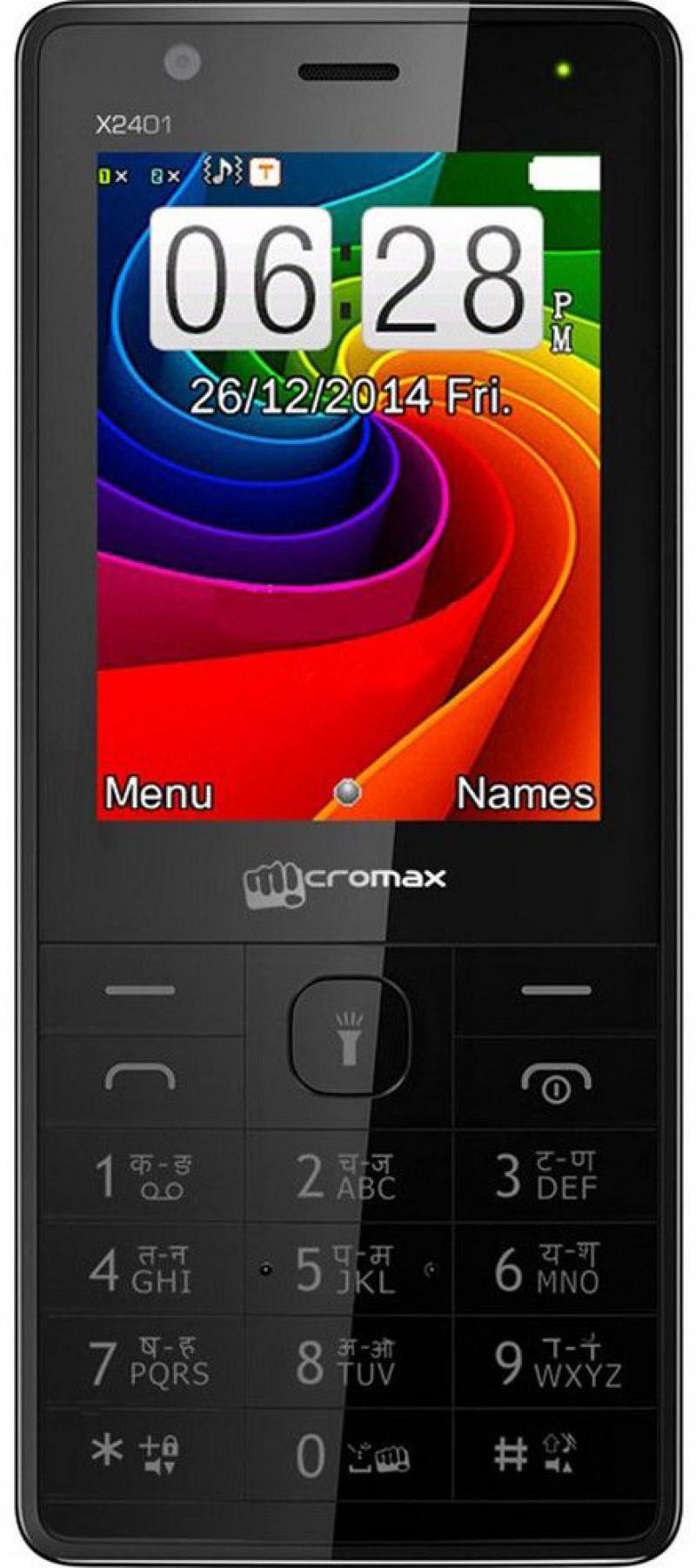 Мобильный телефон Micromax X2401 черный 2.4