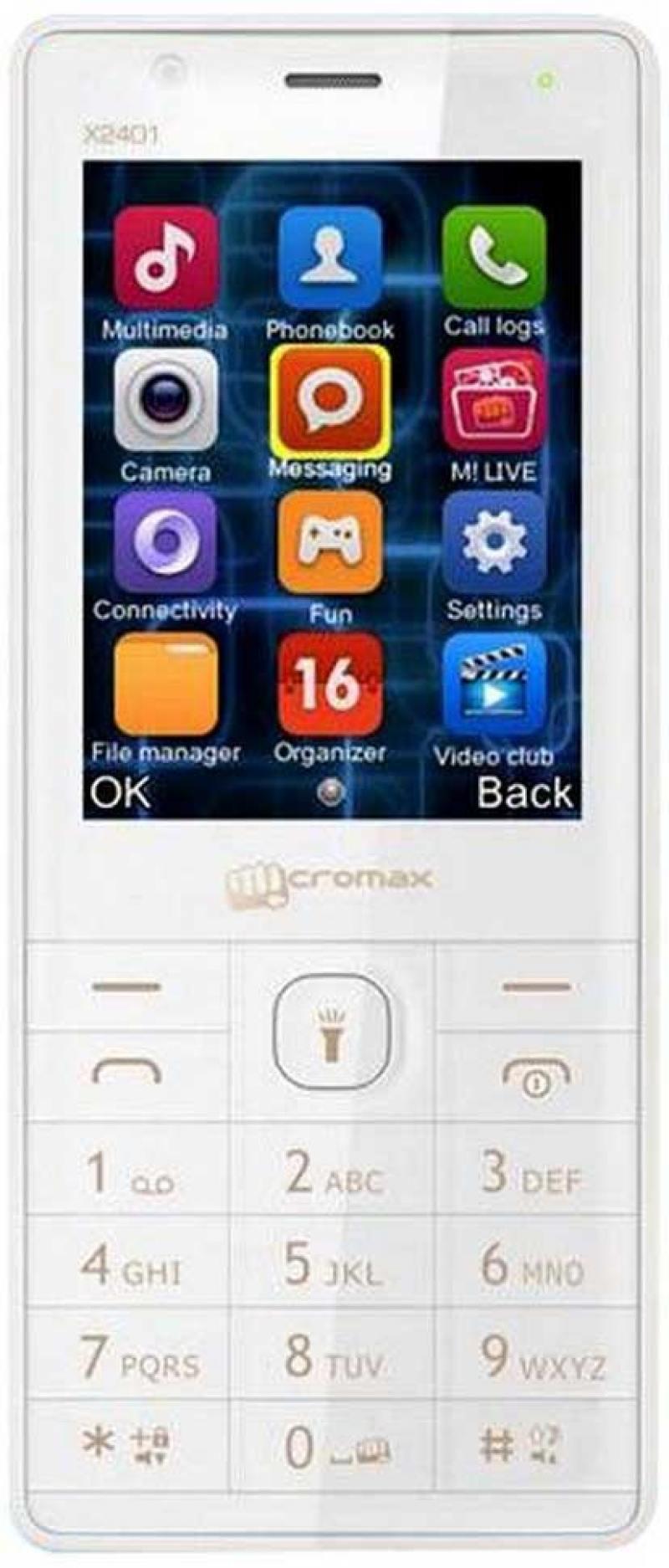 Мобильный телефон Micromax X2401 белый шампань 2.4