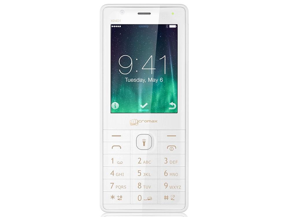 Мобильный телефон Micromax X2401 белый шампань 2.4 200 Мб сотовый телефон micromax x2401 white champagne