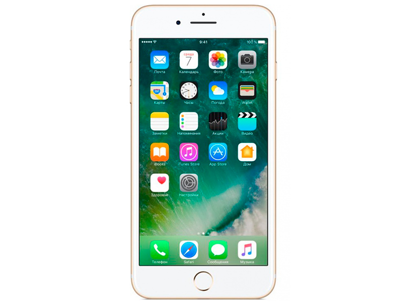 Смартфон Apple iPhone 7 Plus 32Gb золотистый (MNQP2RU/A) 5.5 (1080x1920) iOS 10 12Mpix WiFi BT смартфон zte axon 7 золотистый