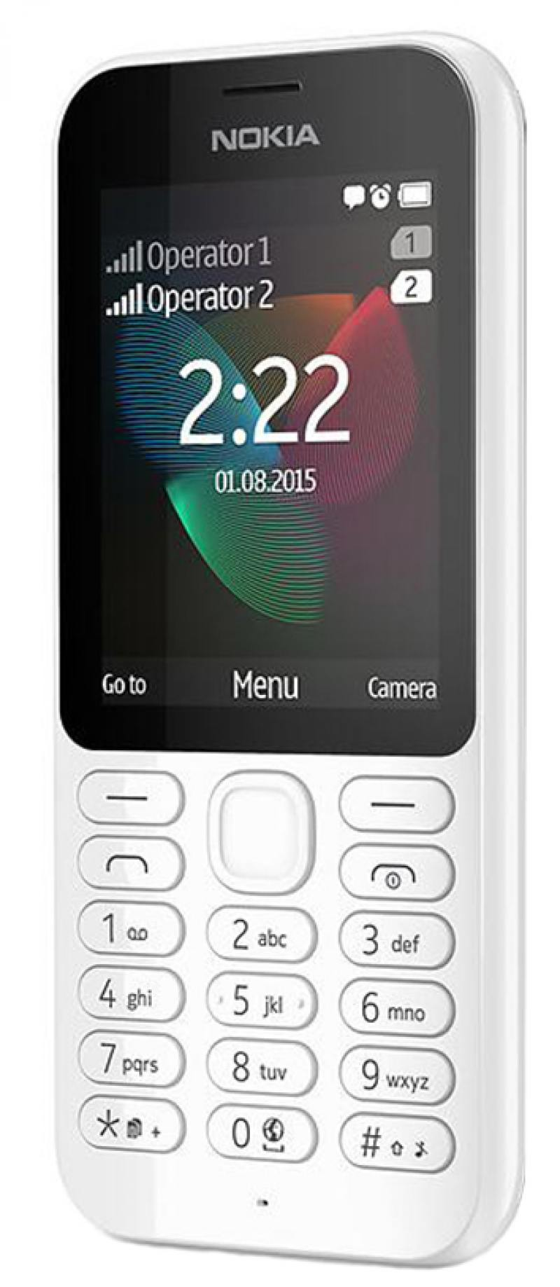 Мобильный телефон NOKIA 222 Dual Sim белый 2.4