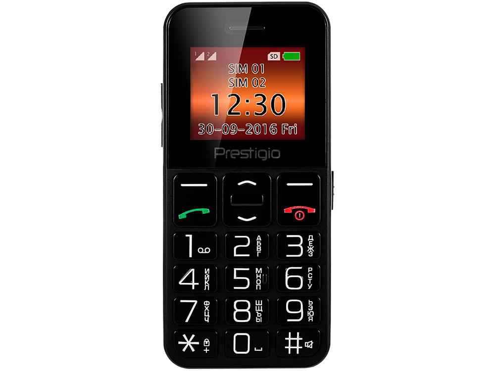 Мобильный телефон Wize E1 (PFP1182DUOBLACK) 1.77'' (128x160)/32Mb/32Mb/Dual SIM/0.08Mp/1000mAh/black+silver