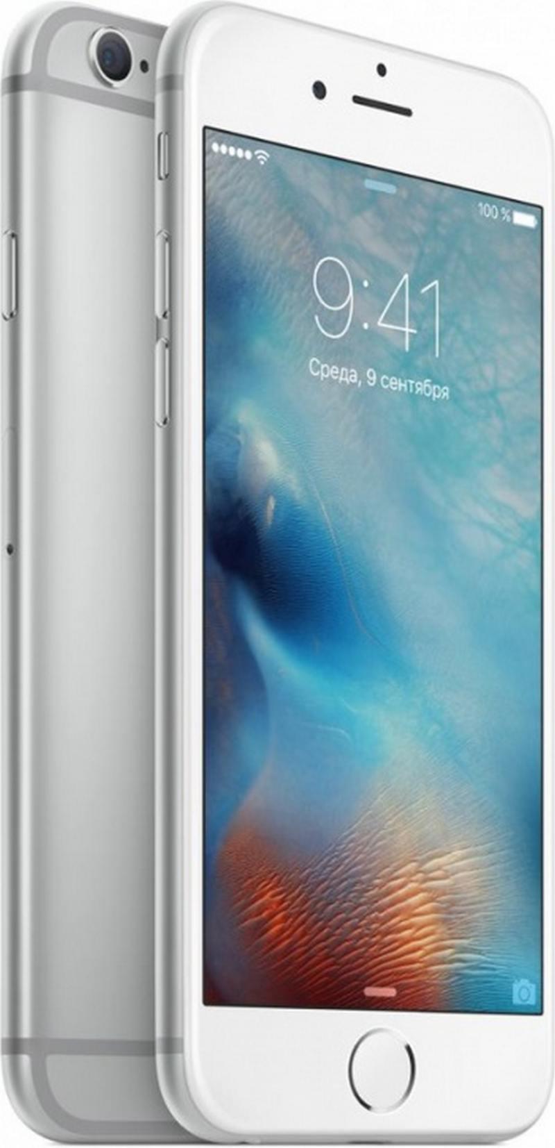 Смартфон Apple iPhone 6S серебристый 4.7 32 Гб Wi-Fi GPS 3G LTE NFC MN0X2RU/A