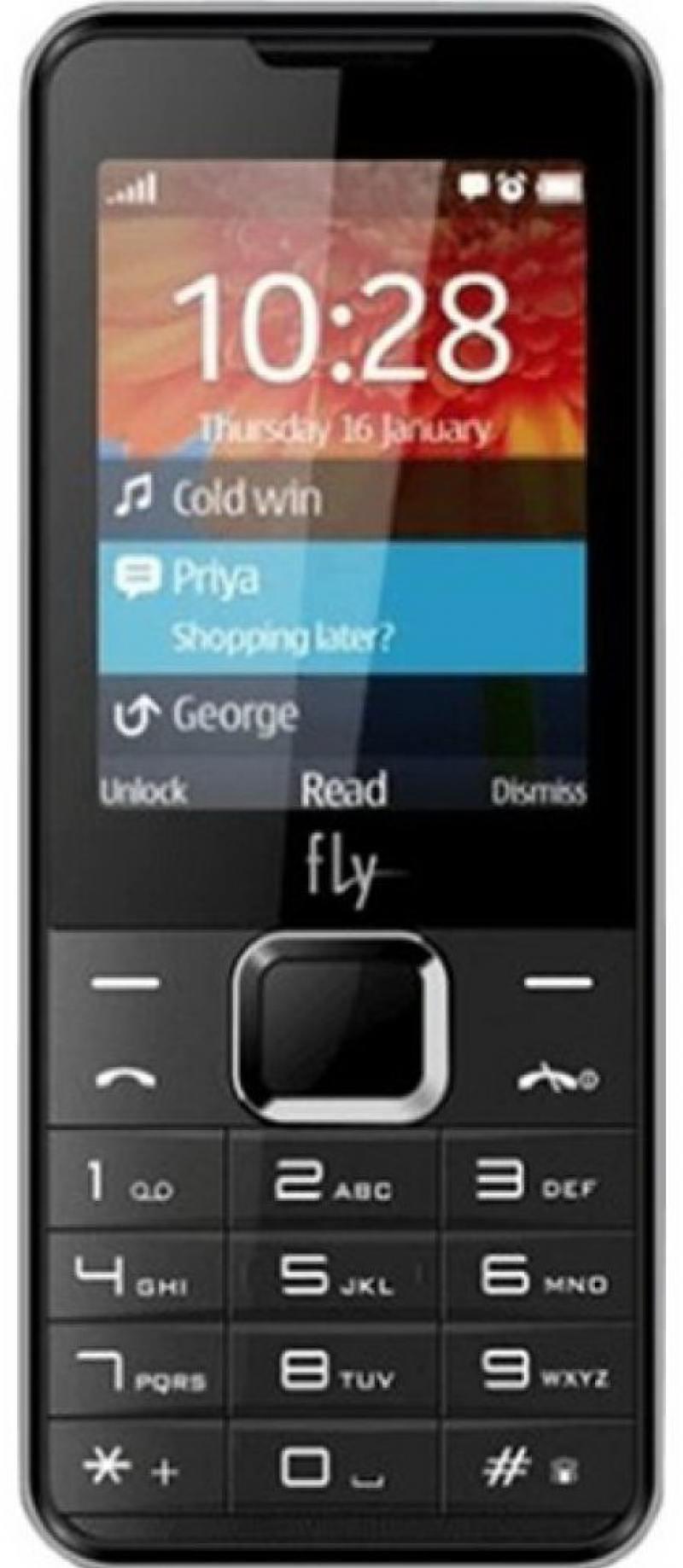 Мобильный телефон Fly FF243 черный 2.4 32 Мб мобильный телефон fly ff281 черный