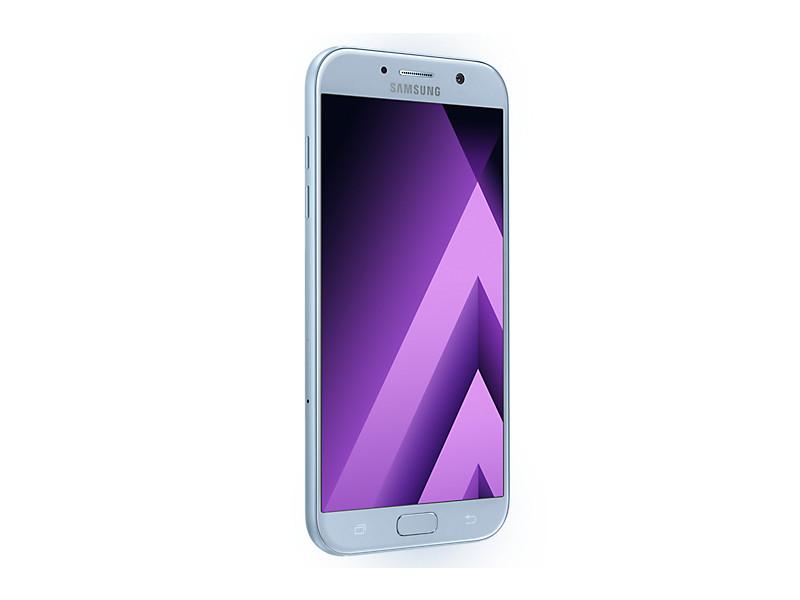 Смартфон Samsung Galaxy A7 (2017) SM-A720F голубой телефон samsung galaxy a7 2017 sm a720f черный