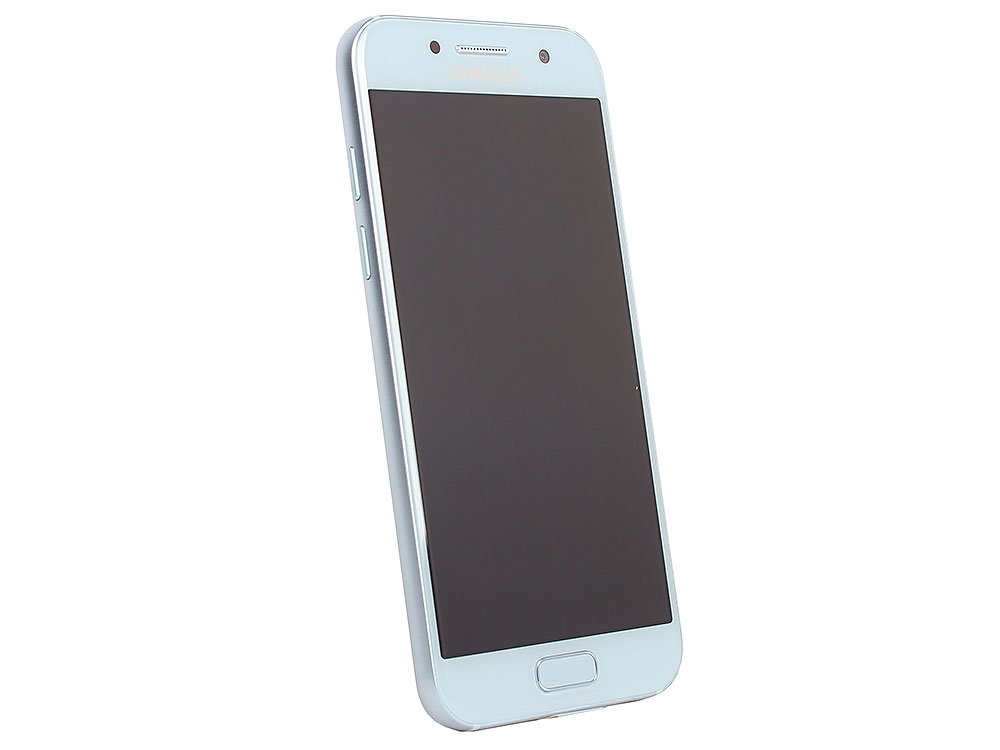 Смартфон Samsung Galaxy A3 (2017) SM-A320F голубой samsung sm a300f galaxy a3 white браслет pandora
