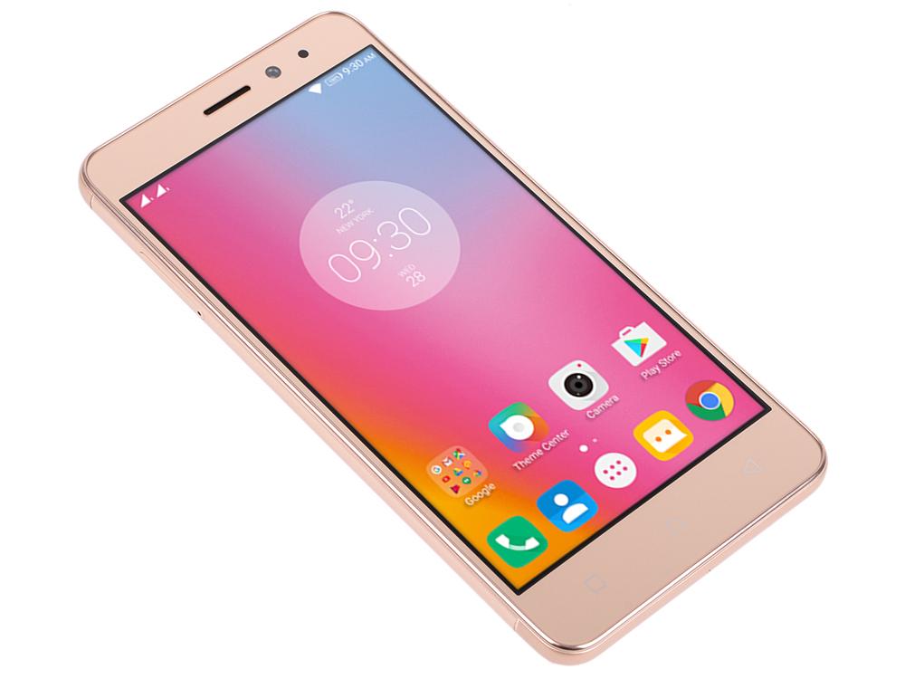 Смартфон Lenovo K6 Power золотистый 5 16 Гб LTE Wi-Fi GPS 3G смартфон asus zenfone live zb501kl золотистый 5 32 гб lte wi fi gps 3g 90ak0072 m00140