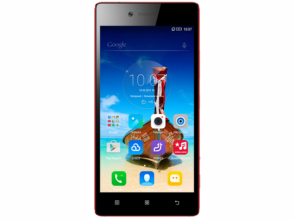 Смартфон Lenovo Vibe Shot красный 5 32 Гб LTE Wi-Fi GPS 3G смартфон digma citi atl 4g белый 5 32 гб lte wi fi gps 3g