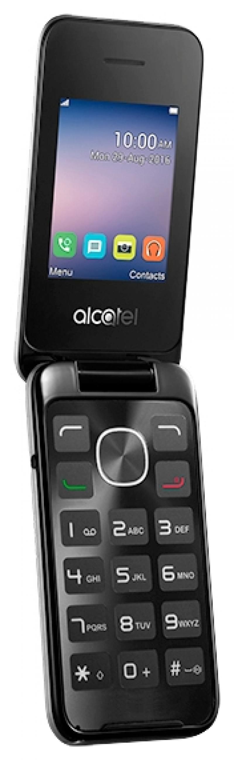 Мобильный телефон Alcatel OneTouch 2051D серебристый раскладной 2Sim 2.4