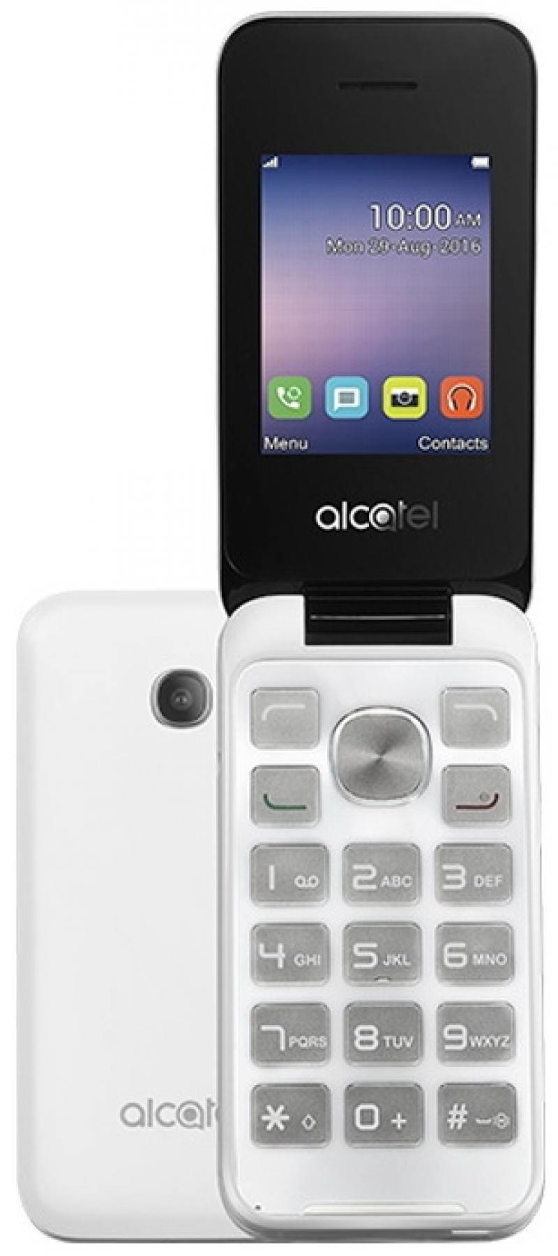 Мобильный телефон Alcatel OneTouch 2051D белый 2.4 аксессуар защитная пленка alcatel onetouch idol alpha media gadget premium прозрачная mg986