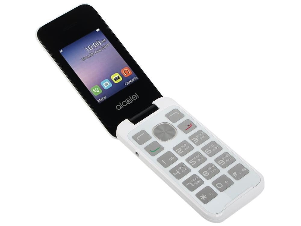 Мобильный телефон Alcatel OneTouch 2051D белый 2.4 мобильный телефон alcatel onetouch 1020d черный 1 77 4 мб
