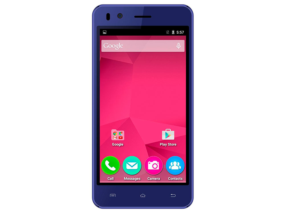 Смартфон Micromax Q424 синий 4.5 8 Гб Wi-Fi GPS 3G смартфон micromax bolt q346 lite 3g 8gb blue