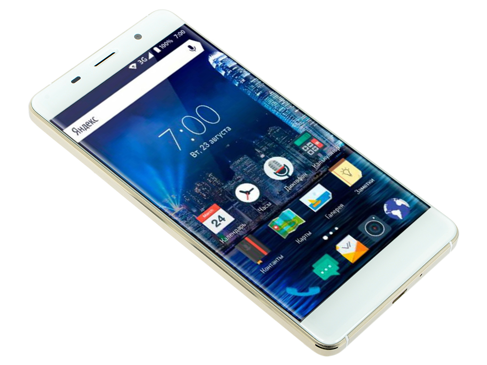 цена на Смартфон Vertex Impress In Touch 4G золотистый VINT4GGLD 5 8 Гб LTE Wi-Fi GPS 3G