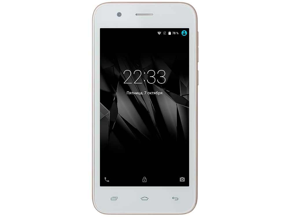 Смартфон Micromax Q346 Lite золотистый 4.5 8 Гб Wi-Fi GPS 3G мобильный телефон micromax bolt q346 lite медно золотистый