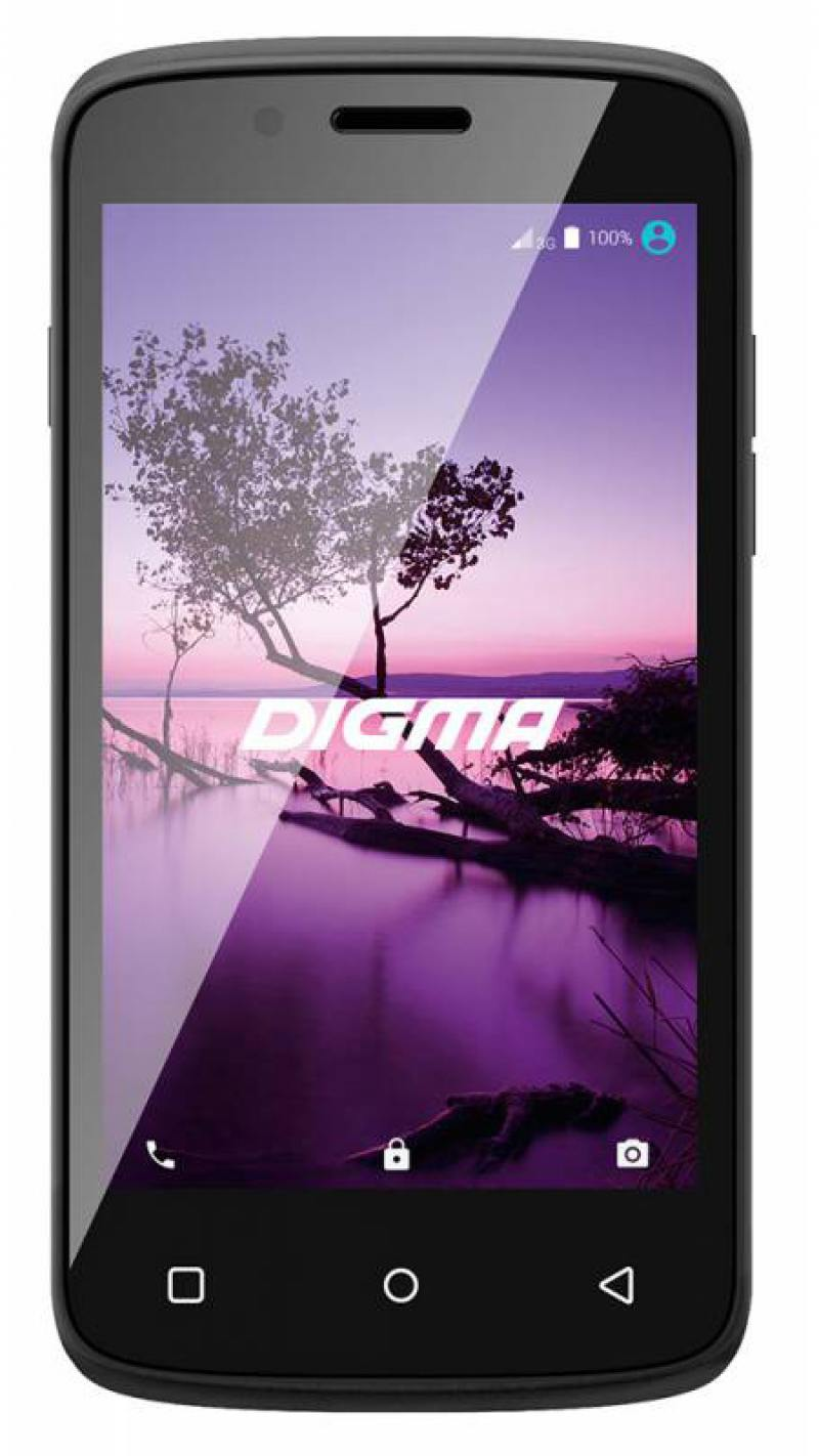 Смартфон Digma LINX A420 3G черный 4.2 4 Гб Wi-Fi GPS 3G смартфон digma linx a420 3g белый ls4019pg