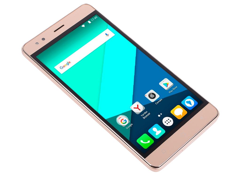 Смартфон Micromax Q397 Champagne 5.5 8 Гб Wi-Fi GPS 3G смартфон micromax a107 серый 4 5 8 гб wi fi gps 3g