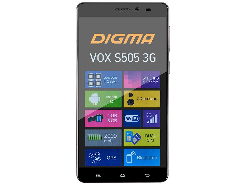 Смартфон Digma Vox S505 3G черный 5