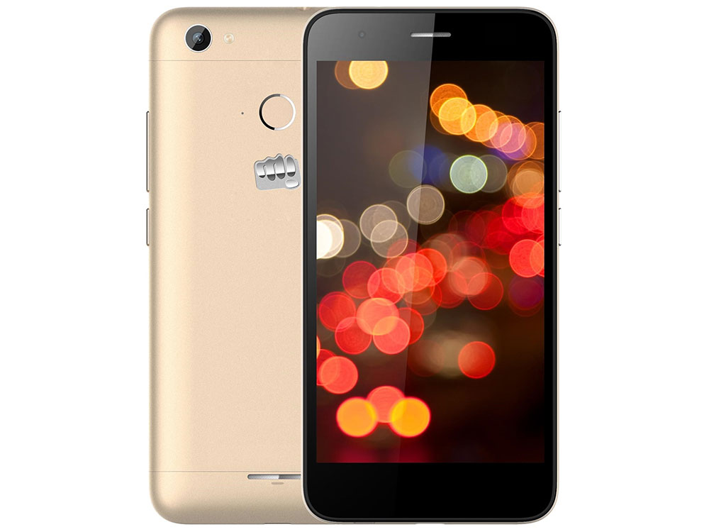 Смартфон Micromax Canvas Juice 4 Q465 Gold Quad core 1.3 GHz/5 HD IPS (1280*720)/2 Gb/16 Gb/8Mpx+5Mpx/4G/3900mAh/2 Sim/Android 5.1 смартфон micromax juice a1 q4251 grey black