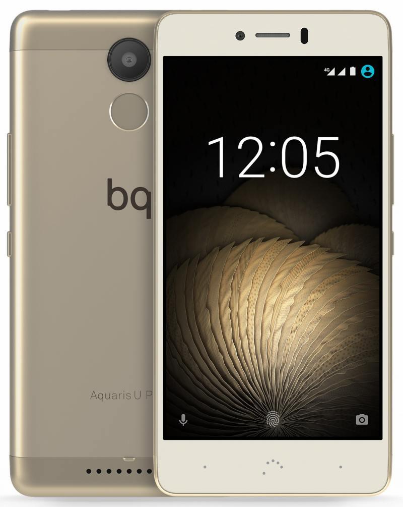 Смартфон BQ Aquaris U Plus золотистый 5 16 Гб LTE Wi-Fi GPS 3G C000235 смартфон meizu m5s золотистый 5 2 16 гб lte wi fi gps 3g