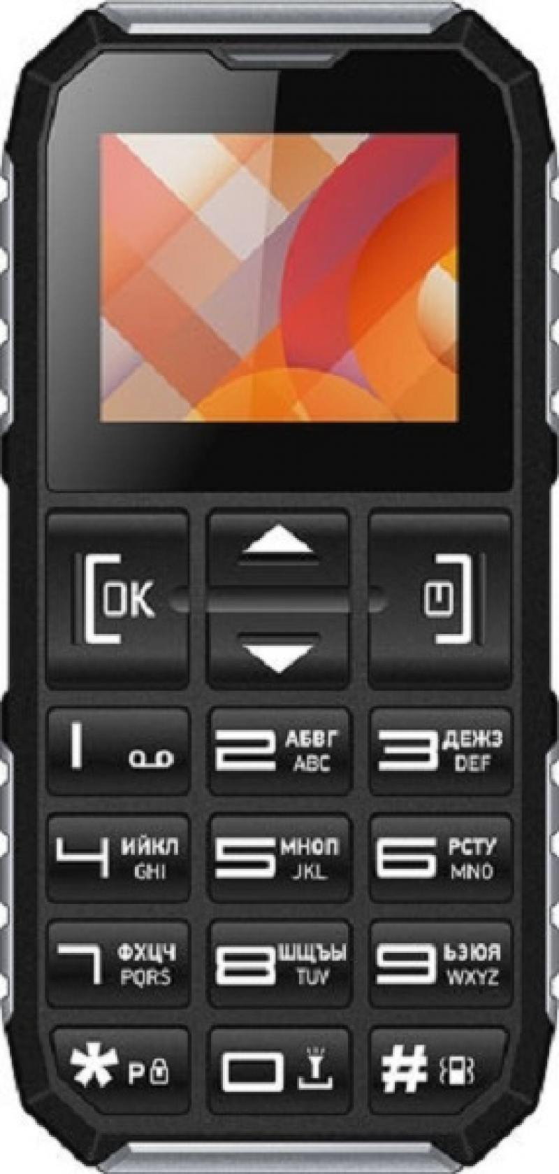 Мобильный телефон Vertex C307 черный серебристый 1.77 vertex vertex impress lion 4g