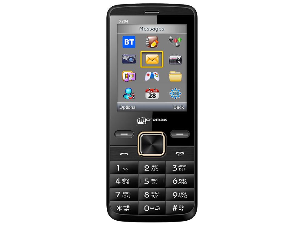 Мобильный телефон Micromax X704 черный 2.4 мобильный телефон micromax x249 черный 2 4