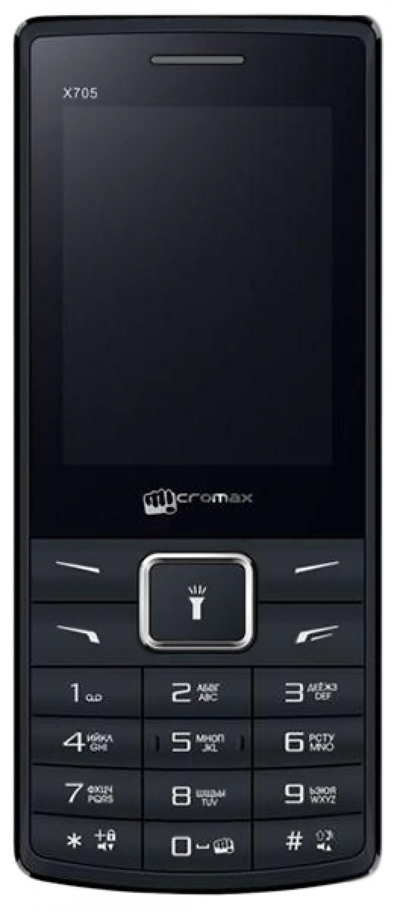 Мобильный телефон Micromax X705 черный 2.4