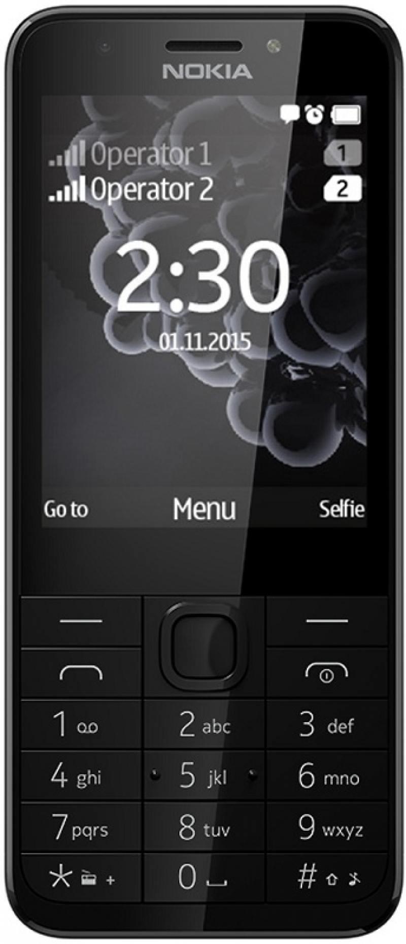 Мобильный телефон NOKIA 230 Dual Sim черный 2.8