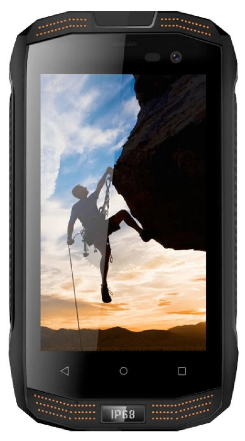 Смартфон Vertex Stark Impress Strong черный оранжевый 4 8 Гб LTE Wi-Fi GPS 3G SSTRBLK