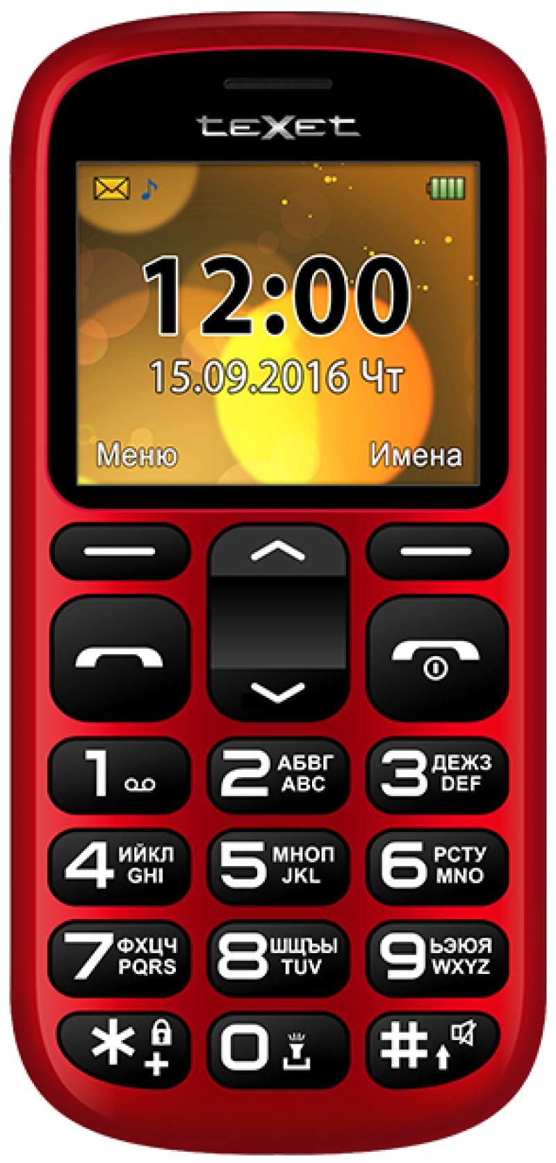 Мобильный телефон Texet TM-B306 красный 2.2