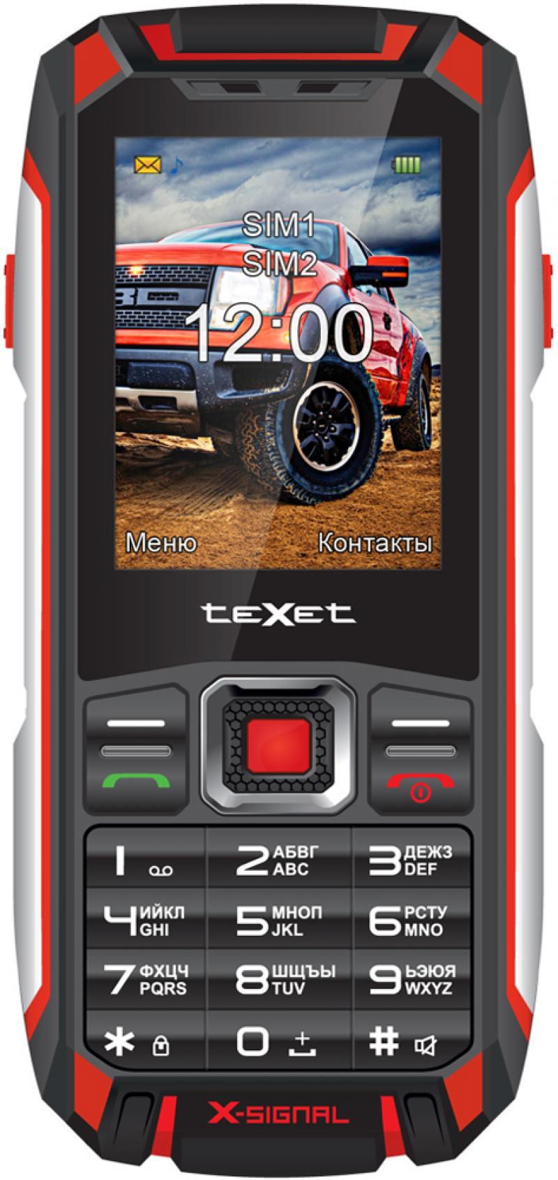 teXet TM-515R черный-красный (X-signal) Мобильный телефон