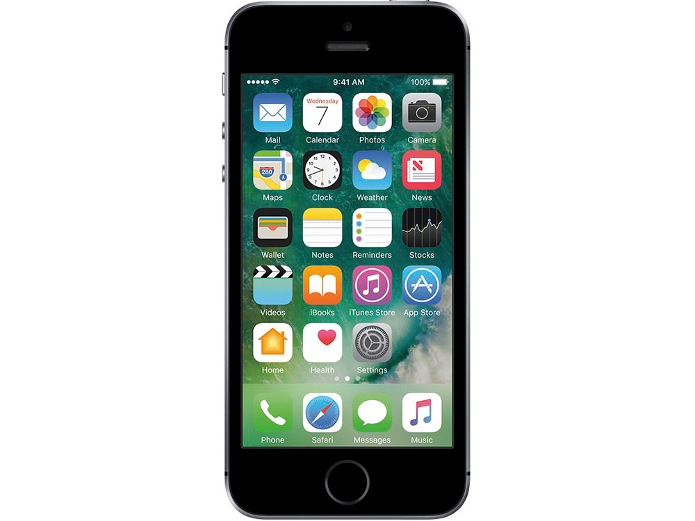 Смартфон Apple iPhone SE 32Gb Space Grey MP822RU/A apple iphone 5s 32gb a1530